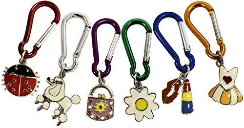 - Set of 6 Kid's Keychains with Carabiners! Hand Painted Collectible Back Pack Pal Toy Keychains! Adorable Set with Unique Designs! Perfect Girls Party Favors!