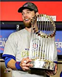 "Ben Zobrist Chicago Cubs 2016 World Series Trophy Photo (8"" x 10"")"