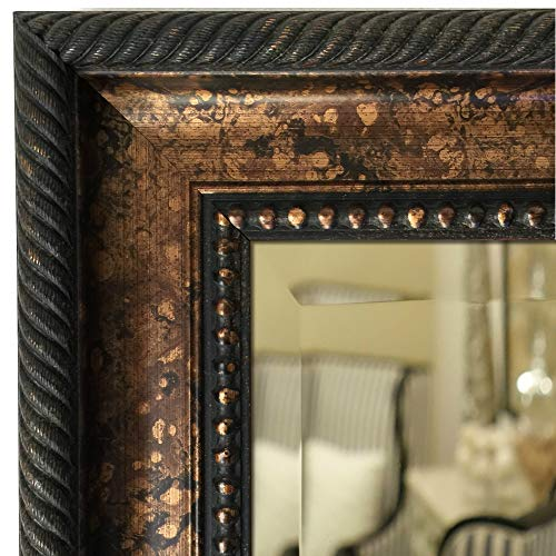West Frames Santino Framed Bathroom Vanity Decorative Wall Mirror (Bronze Black, 31