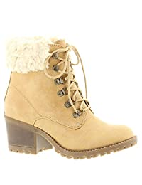 Cliffs by White Mountain Womens Trident Round Toe Mid-Calf Cold Weather Boots