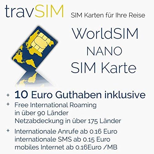 Internationale Sim Karte.World Sim Karte Für 175 Länder 10 Euro Guthaben Standard Micro Nano Sim Welt Prepaid Sim Karte