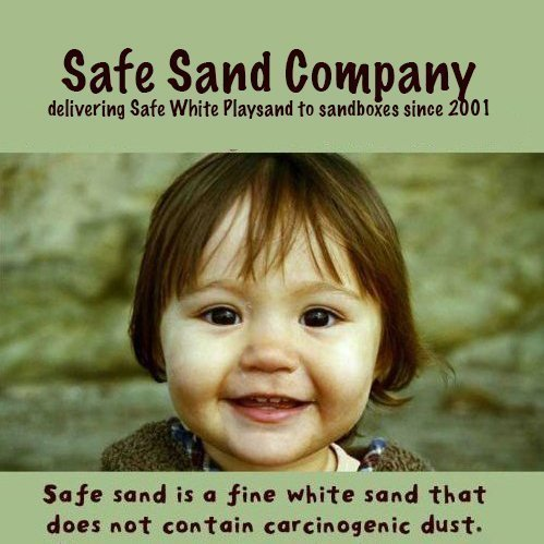 Safe Sand for Sandbox / Natural White Playsand 25 Pound Box -