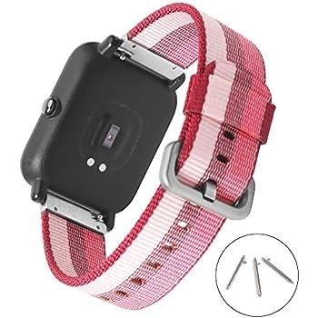 20mm Nylon Watch Band SIKAI Quick Release Universal Woven Nylon Replacement Strap for Samsung Gear Sport/Ticwatch E/Amazfit Bip/Garmin Vivomove Nylon ...