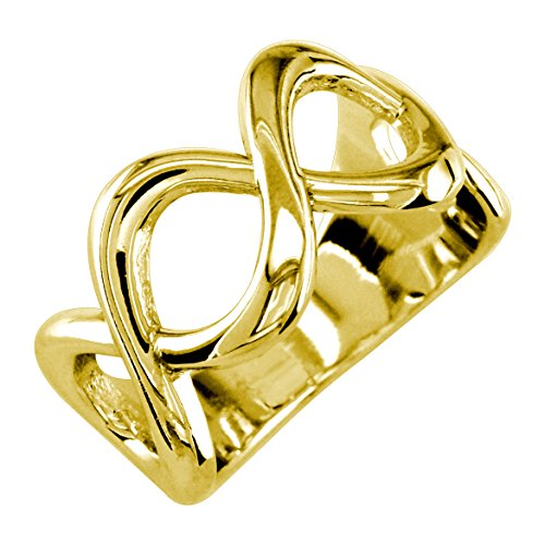 Infinity Ring Couple in 14K Yellow Gold size 5.5 by Sziro Infinity Rings