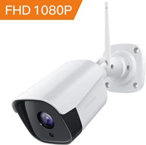 Security Camera Outdoor, Victure Camera for Home Secuirty, 1080P WiFi Camera with IP66 Waterproof, Two-Way Audio, Night Vision, Motion Detection, Compatible with iOS/Android