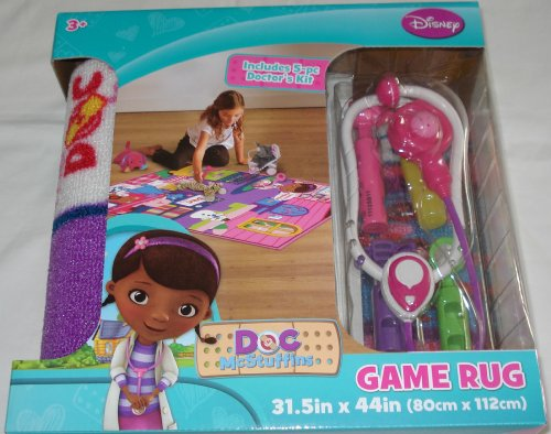 Disney Doc McStuffins Game Rug Playset Includes 5 Piece Doctors Kit by Disney