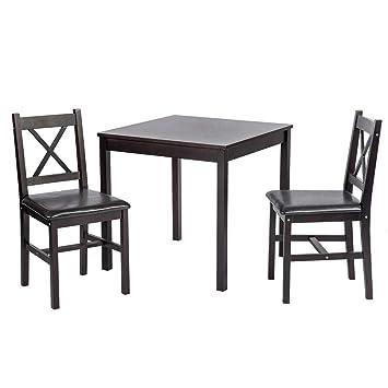 Amazon.com: BestMassage - Juego de mesa de comedor y mesa de ...