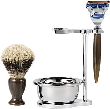 Sharplace Juego de Afeitar de Estilo Vintage para Hombre + Tazón + Afeitadora de Barba para Hombres: Amazon.es: Juguetes y juegos