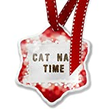 Christmas Ornament Cat Nap Time Cheetah Cat Animal Print, red - Neonblond