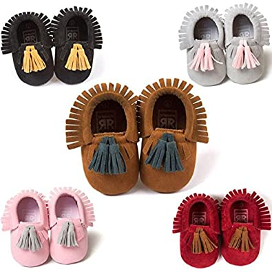 Kirbaez Toddle Tassel Flat Single Shoes Fall Prewalker Shoes for Baby Girls
