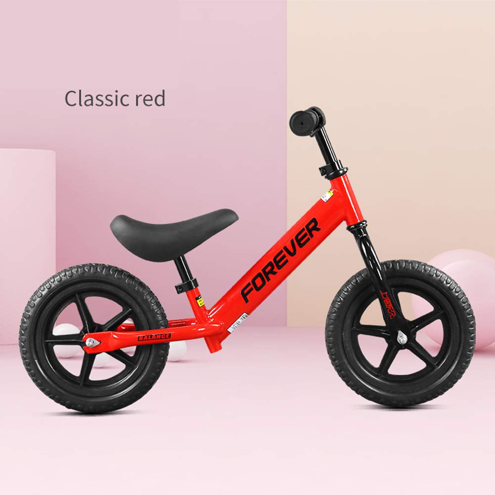 バランスバイク-ペダルなしでキッズライド、年齢35歳の調整可能なハンドルバーとシートプレミアム & ウルトラライト  Red B07P9GHM2W