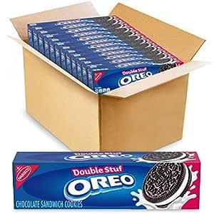 OREO Double Stuf Chocolate Sandwich Cookies, 12 Packs (5.6 oz)