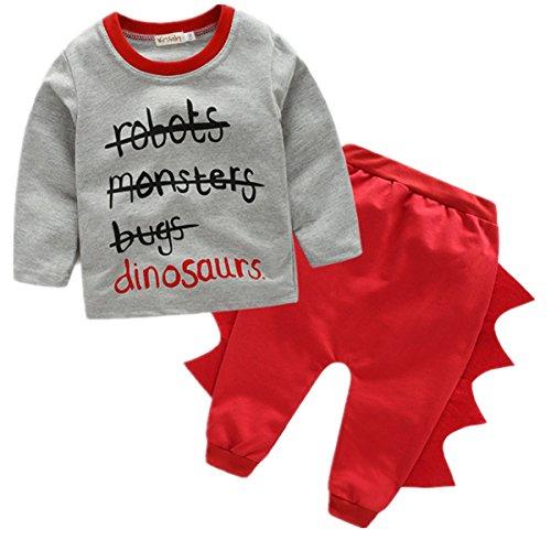 Sleeve Clothing Cartoon Dinosaur T shirt