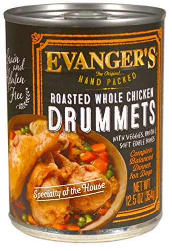 Evangers 776140 12-Pack Hand-Packed Grain Free Roasted Chicken Drumette Dinner for Dogs, 13-Ounce For Sale