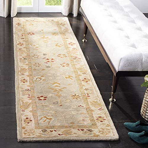 Safavieh Anatolia Collection AN559B Handmade Traditional Oriental Taupe and Beige Wool Runner (2'3