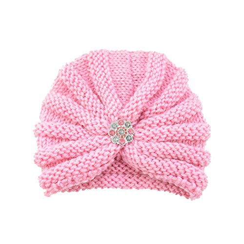 Longay Baby Toddler Girls Boys Infant Warm Winter Knit Beanie Hat Crochet Ski Ball Cap (Pink) ()