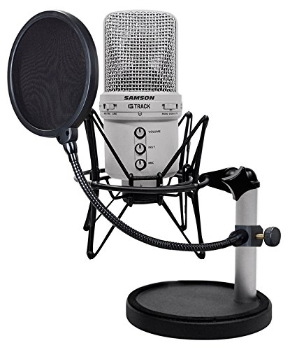 Samson G-Track Recording Podcast USB Microphone+Interface+Mount+Stand+Pop Filter by Samson