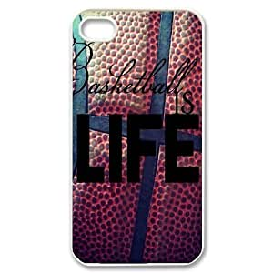 Basketball is life DIY Phone Case for Iphone 4,4S,Basketball is life custom phone case