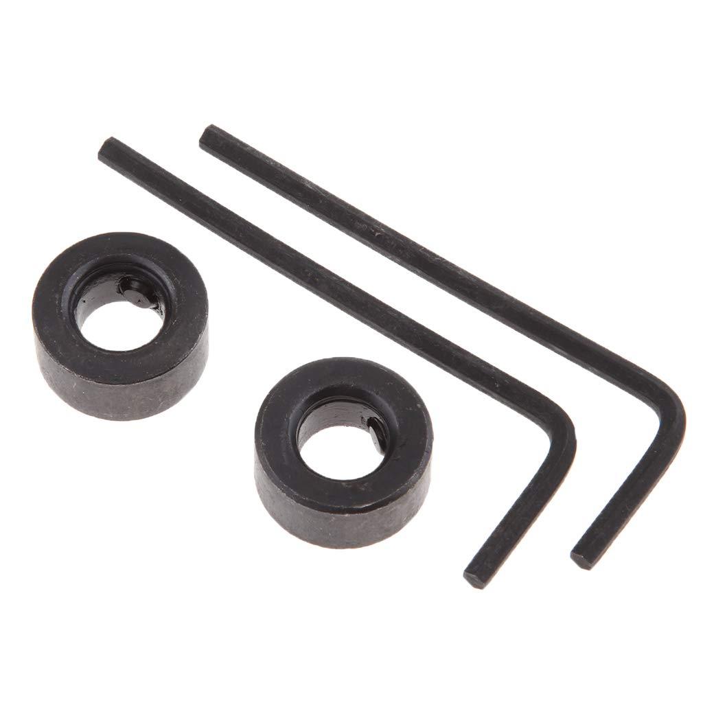 3mm FLAMEER Set de Broca Fresa Collar Topes de Taladro Retenedor Sujeci/ón Acero al Carbono
