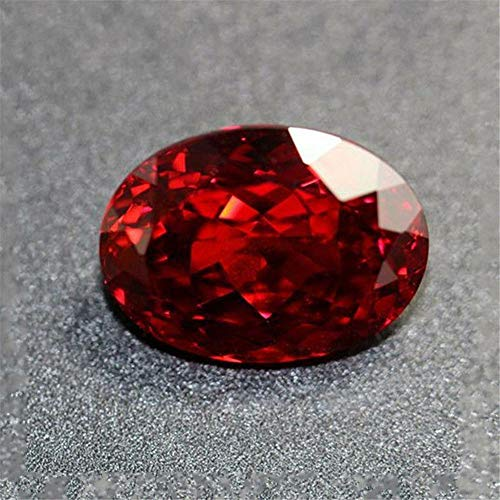 HS store 13.89CT Pigeon Blood Ruby UNHEATED RED Pink Diamond Oval Cut VVS Loose GEMS (Red (1pc, ()