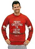 Ugly Christmas Sweater Home Alone Merry Christmas Ya Filthy Animal