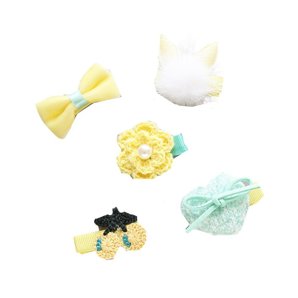 bebe disfraz fotografía accesorios prop, Sannysis Set de 5 lazos para el pelo, de grogrén, con clip de pinza, para niña pinzas de sólido lazo diadema pinza de pelo bebe
