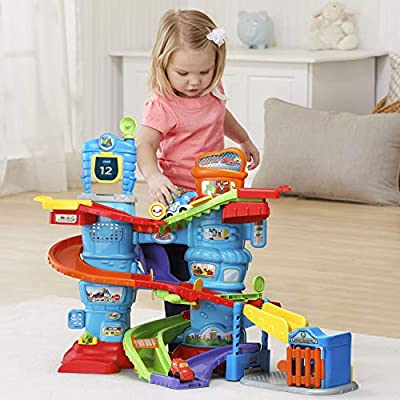 VTech Go! Go! Smart Wheels Launch and Chase Police Tower: Toys & Games