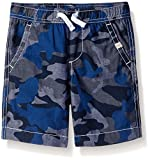 Scout + Ro Big Boys' Camo Poplin Short, Swim Navy, 10