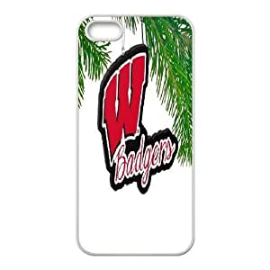 Wisconsin Badgers Big Logo Ornament IPhone 5,5S Cases, Tyquin - White
