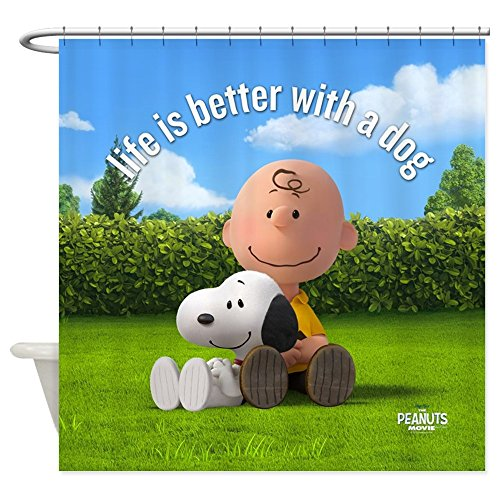 CafePress - Life Is Better Pillow - Decorative Fabric Shower Curtain (69