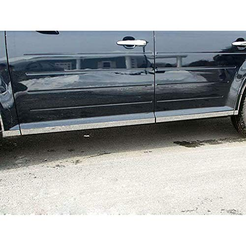 Brighter Design 8pc. Chrome 1 3/4' Rocker Panel Molding fit for 2009-2019 Ford Flex