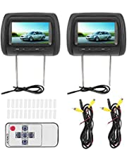 Terisass Dual Portable DVD Player Car Headrest Video Players 7 in HD LCD Digital Touch Screen USB/SD/TV Car MP5 Player