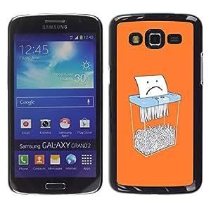 LECELL--Funda protectora / Cubierta / Piel For Samsung Galaxy Grand 2 SM-G7102 SM-G7105 -- Paper Sad Cartoon Funny Office --