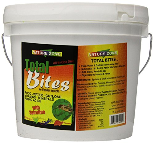 Zone Pet Nature (Nature Zone SNZ54513 Cricket Total Bites Soft Moist Food, 1-Gallon)