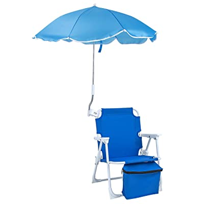 """Sorbus Camping Chairs, Seat Size 14""""x13 x19 H, Foldable Frame, and Portable Carry Bag, Great for Camping, Sporting Events, Beach, Travel, Backyard, Patio, etc (Kid Umbrella Chair – Blue) : Sports & Outdoors"""
