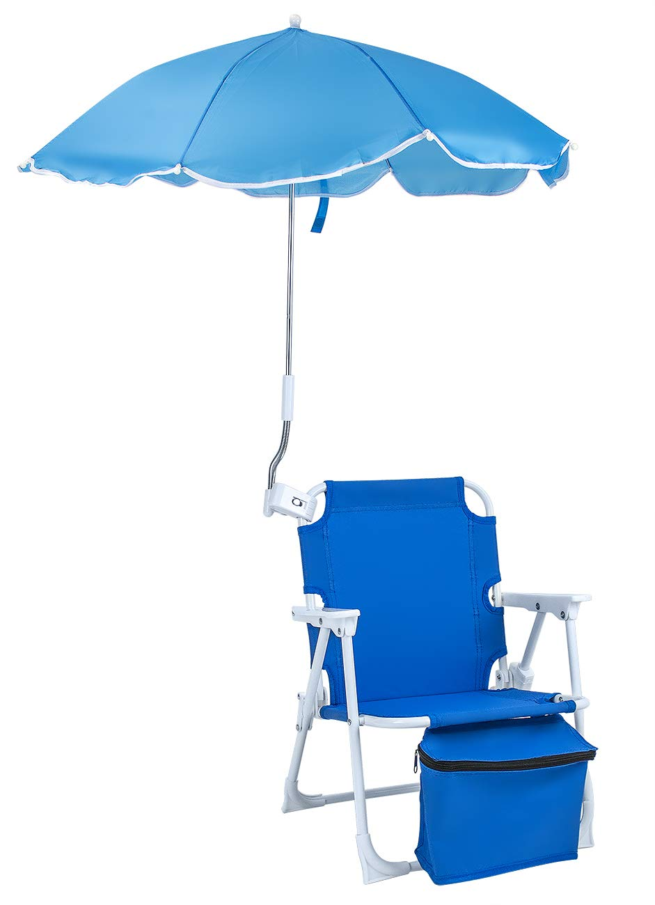 Sorbus Camping Chairs, Seat Size 14 x13 x19 H, Foldable Frame, and Portable Carry Bag, Great for Camping, Sporting Events, Beach, Travel, Backyard, Patio, etc Kid Umbrella Chair Blue