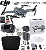 DJI Mavic Pro Collapsible Quadcopter Drone Essentials Travel Bundle w/ Manufacturer's Accessories + Intelligent Flight Battery, Carry Case, SanDisk 32 GB Card, USB-C Cable, Cleaning Cloth