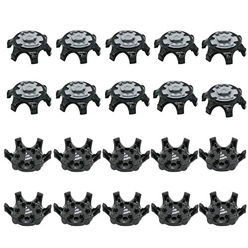 ouxinli Easy Replacement Spikes Cleats Golf Shoes Black 20Pcs