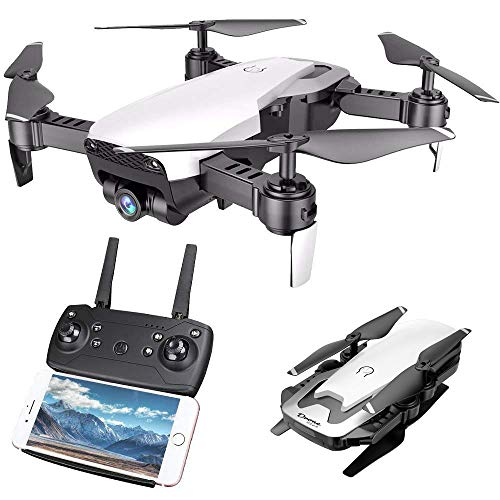 Cooligg Drone for Beginners S168-S 2MP 720P WiFi FPV Foldable Arm Selfie Drone 2.4G 4CH RC Quadcopter,Wide Angle HD Camera,Headless Mode,One Key Return,Powerful Battery