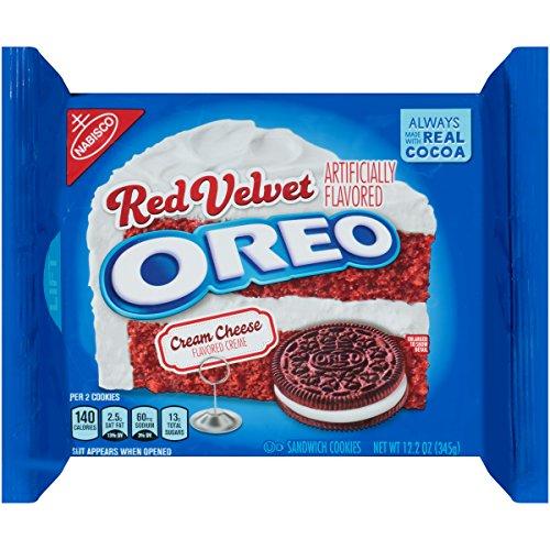 Oreo Red Velvet Sandwich Cookies 122 Ounce Pack of 4