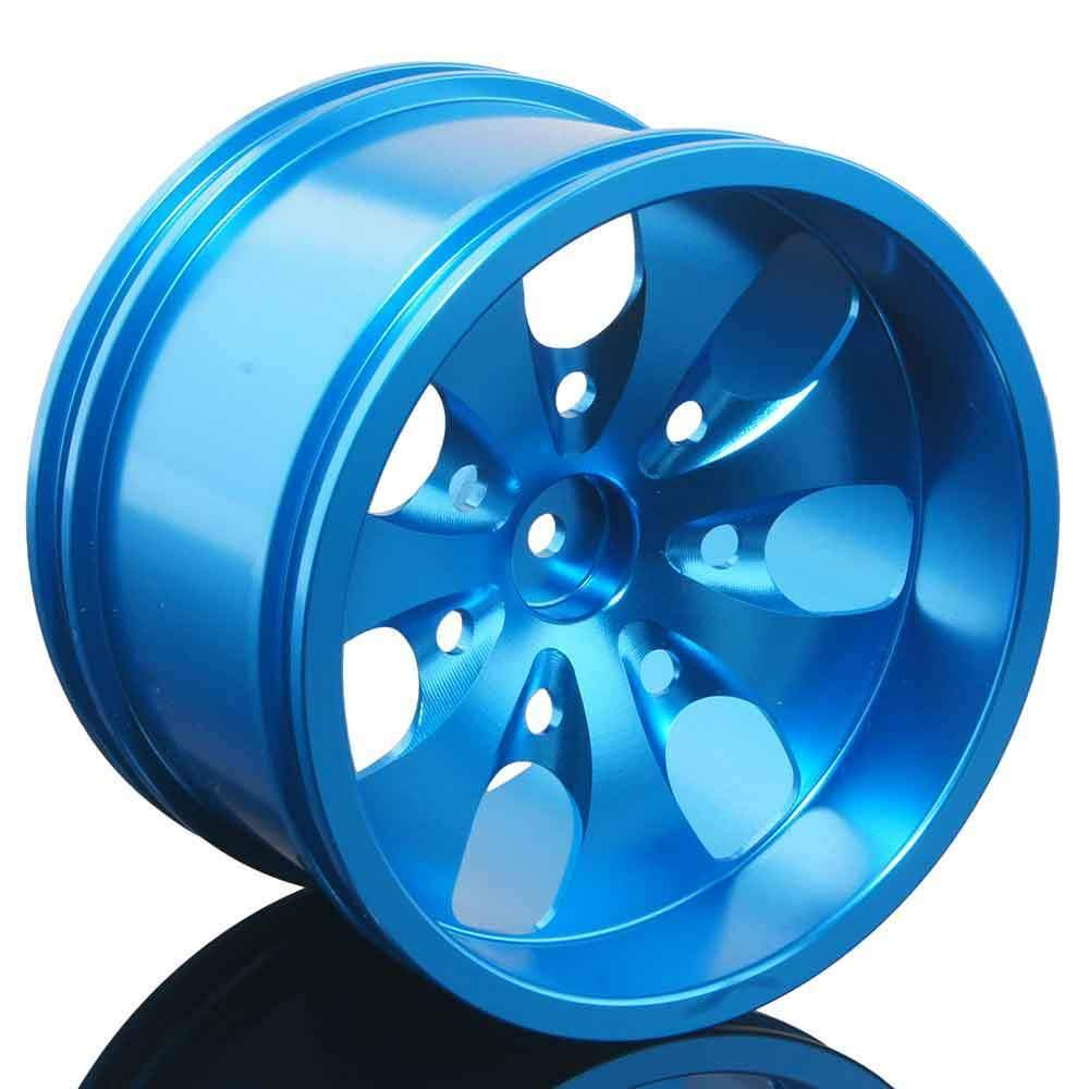 Toyoutdoorparts RC 08008N Blue Alumiunm Wheel 4P Rims D:78mm W:50mm for HSP 1:10 Monster Truck