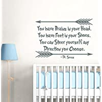 Dr Seuss Quotes Wall Decals You Have Brains In Your Head Wall Decal Quote  Vinyl Sticker