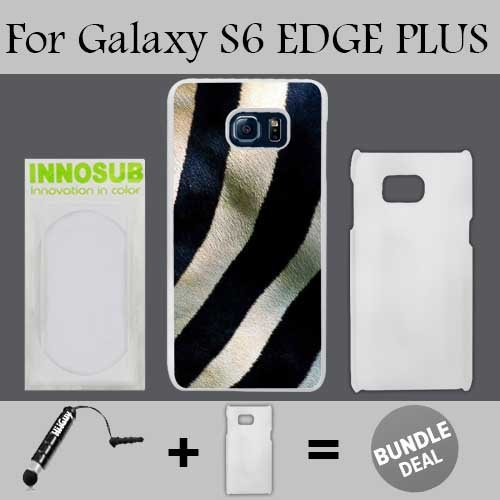 Zebra Stripes Custom Galaxy S6 EDGE PLUS Cases-White-Plastic,Bundle 2in1 Comes with Custom Case/Universal Stylus Pen by innosub