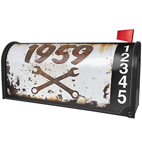 NEONBLOND Rusty Old Look car 1959 Magnetic Mailbox Cover Custom (1959 Old Cars)