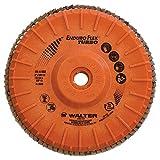 Walter Enduro-Flex Turbo Abrasive Flap Disc, Type 29, 5/8''-11 Thread Size, Plastic Backing, Ceramic, 6'' Diameter, Grit 36/60 (Pack of 10)