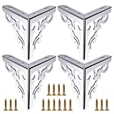 OwnMy 4pcs Metal Furniture Legs Feet, Modern Sofa Cabinet Legs for Repair & Restoration of Dresser, Wardrobe, Tea Table, Worktop Shelves Bed, Weight Capacity of 550 lbs per Leg(15cm/6inch) For Sale