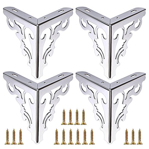 OwnMy 4pcs Metal Furniture Legs Feet, Modern Sofa Cabinet Legs for Repair & Restoration of Dresser, Wardrobe, Tea Table, Worktop Shelves Bed, Weight Capacity of 550 lbs per Leg(15cm/6inch)