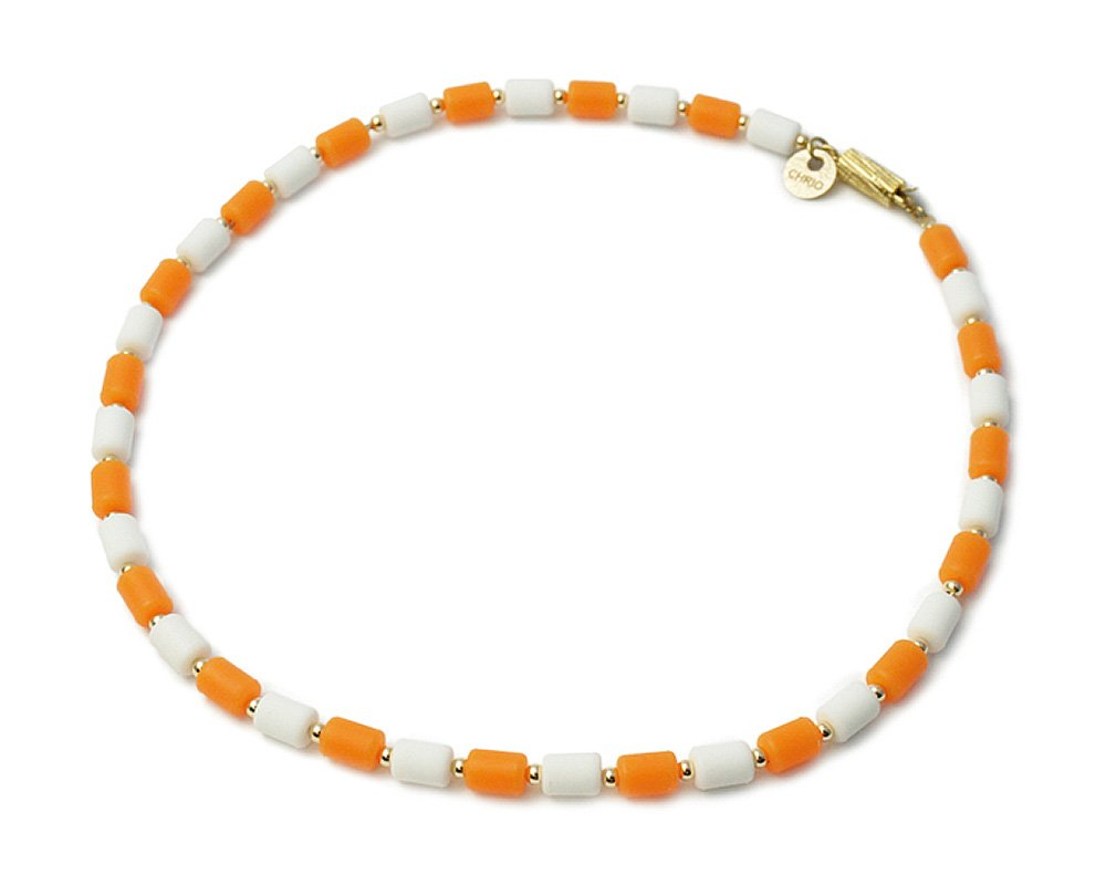 クリオ(CHRIO) インパルス ネックレス(ゴールドフィルドタイプ) オレンジ×ホワイト S(43cm) B07F6C68HH