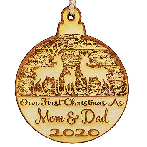 Wedding Collectibles Our First Christmas As Mom and Dad Christmas Ornament (2020) Boy and Girl Tree Hanging Decoration | 1st Collectible Keepsake and Heirloom | Mom, Dad, Babies, Infants, Newborns | V