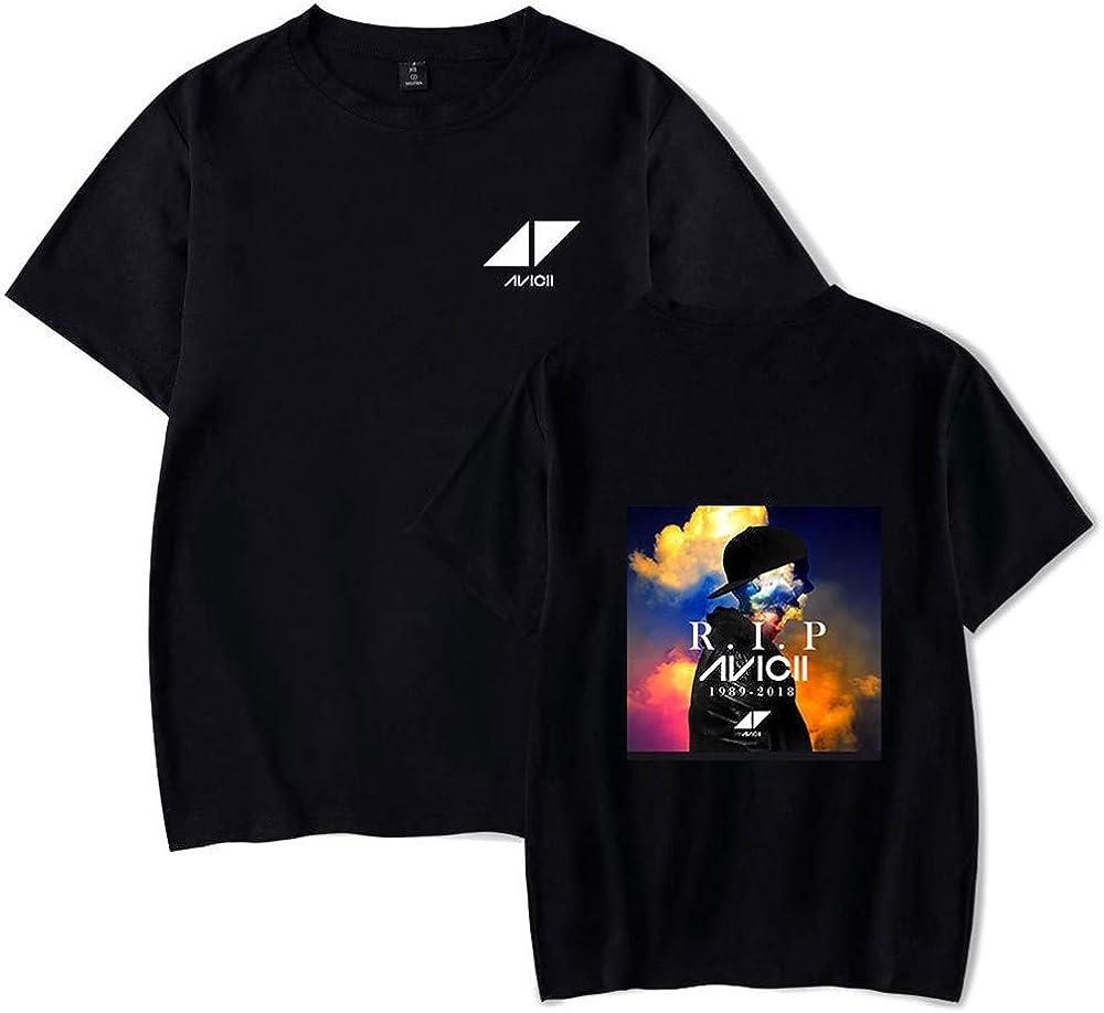DJ Avicii Camiseta Camisetas de Manga Corta cómodas de algodón ...